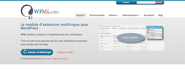 WPML, l'extension multilingue