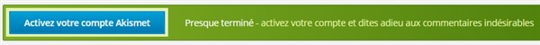Akismet - Activez