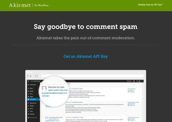 Accueil Akismet WordPress
