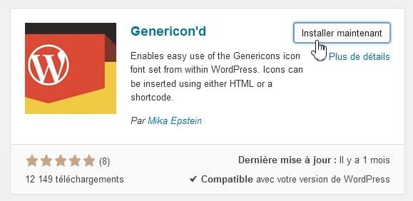 Plugin Genericon'd par Mika Epstein