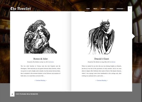 The Novelist, un thème WordPres pour écrivains