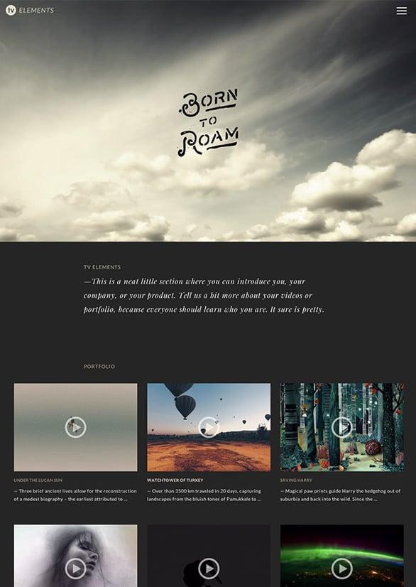 TV Elements, un thème WordPress pour blog vidéo