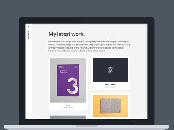 Thème WordPress Designer