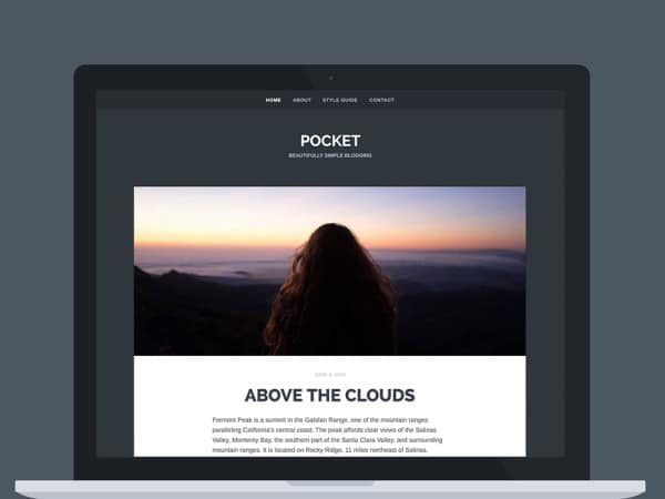 Démo du thème WordPress Pocket