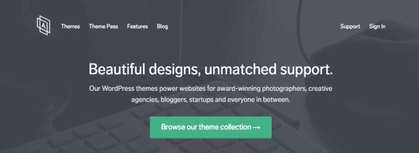 Jetez un oeil aux thèmes WordPress d'Array