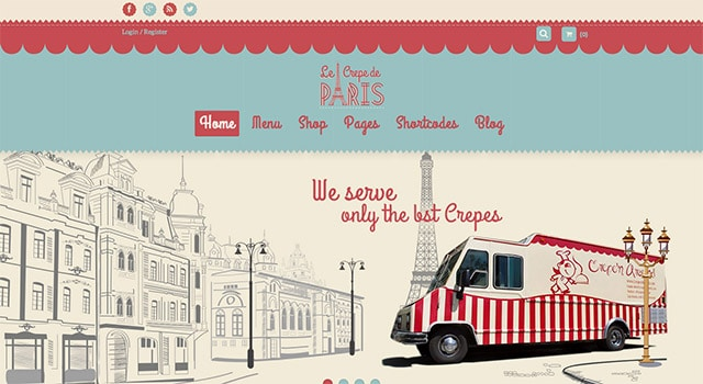 FoodTruck, un template WordPress