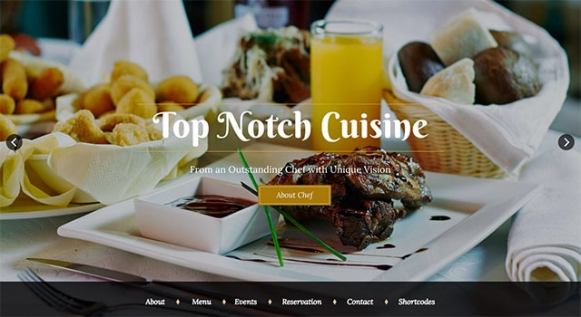 Un template WordPress pour restaurants