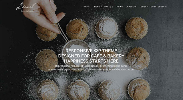 Liesel, un template WordPress restaurant