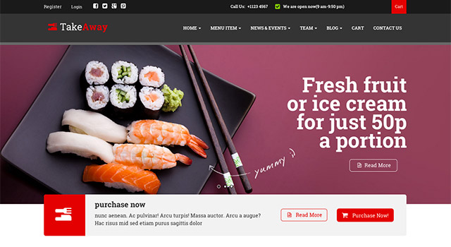 Takeaway - Template WordPress restaurant