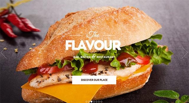 Un thème WordPress restaurant : Flavour