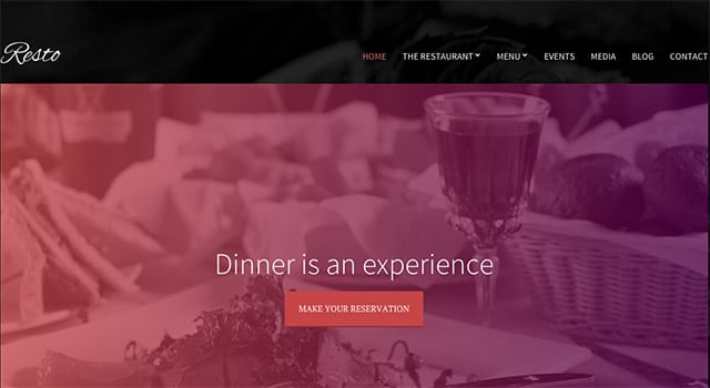 Un thème WordPress pour restaurants