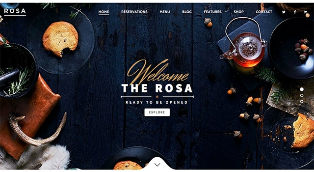 Rosa, un thème WordPress restaurant