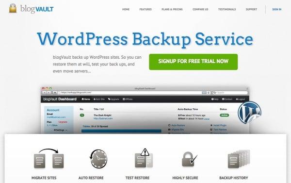 BlogVault, un service de sauvegarde pour WordPress