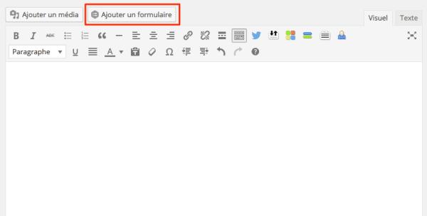 Ajout d'une formulaire Gravity Forms dans une page