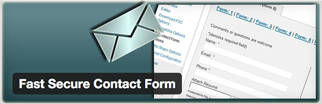 Fast Secure Contact Form, plugin gratuit de formulaires WordPress