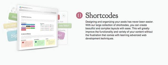 Shortcodes Elegant Themes