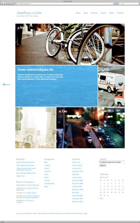 Le thème WordPress Autofocus