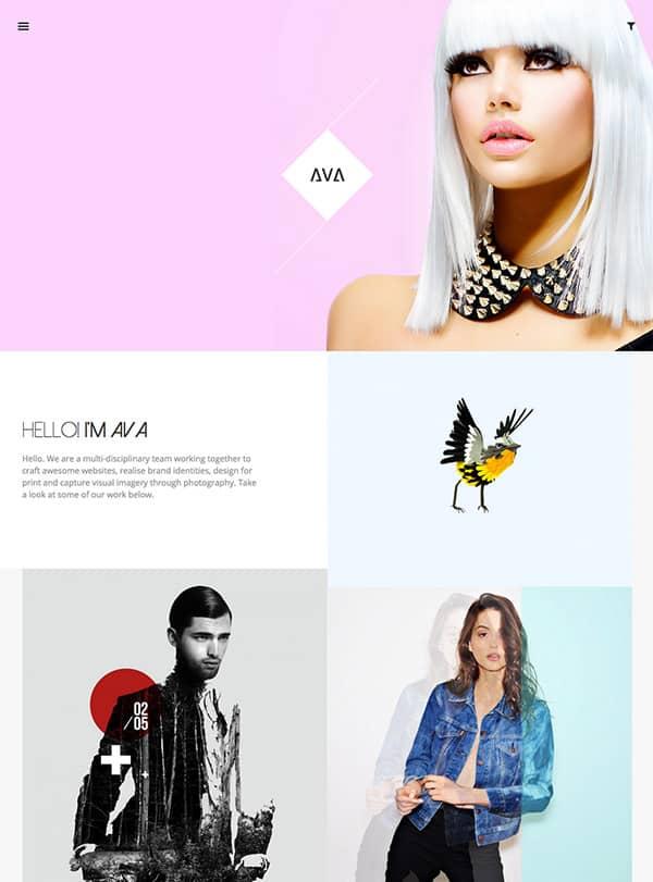 Ava, un thème WordPress portfolio créatif
