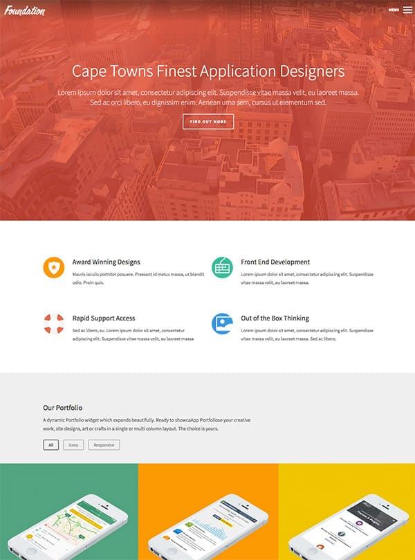 Foundation, un thème WordPress pour portfolio