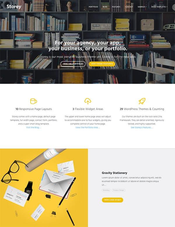 Thème WordPress Storey