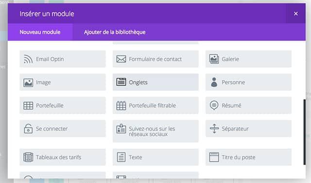 Exemple de traduction française de Divi