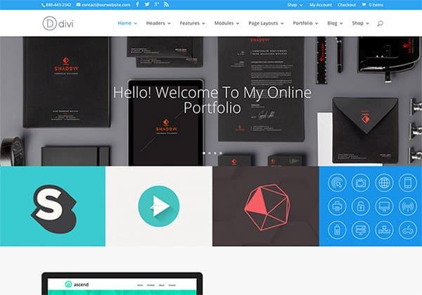 Divi, un thème WordPress portfolio