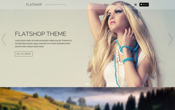 Le template WordPress Flatshop