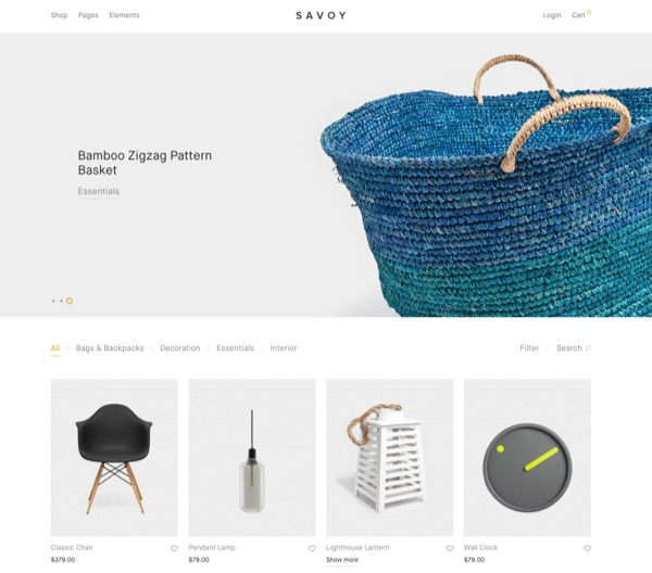 Template WordPress eCommerce - Savoy