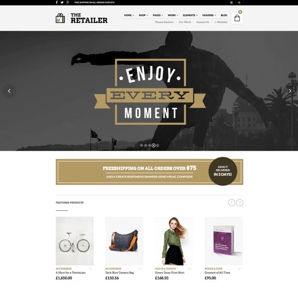 The Retailer, un template WordPress eCommerce