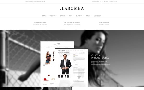 Le template WP eCommerce Labomba