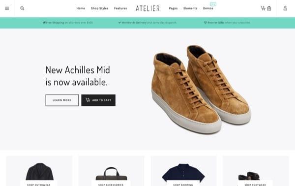 Atelier, un thème WordPress eCommerce