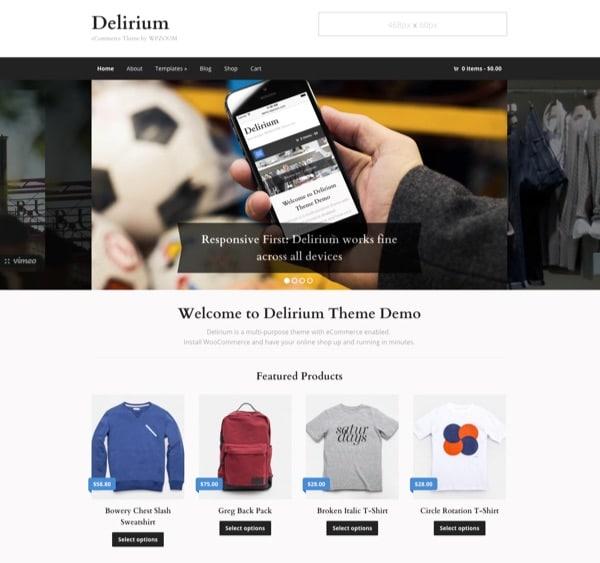Thème WordPress eCommerce Delirium