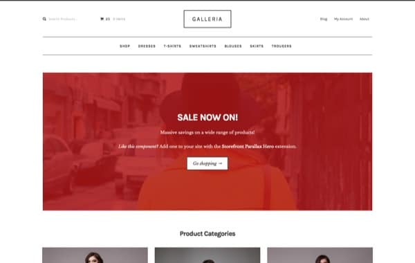 Galleria, un thème WP e-commerce