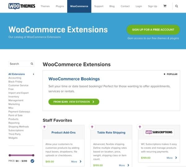 Les extensions pour WooCommerce