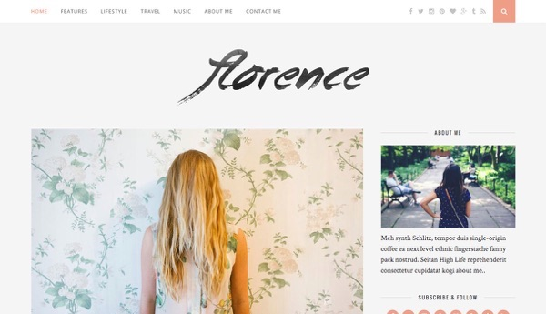 Le template WordPress Florence