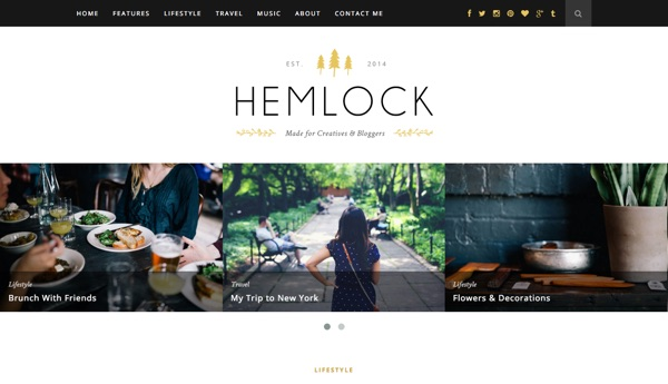 Le template WordPress Hemlock