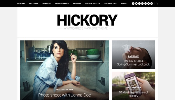 Le thème WordPress Hickory