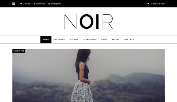 Essayez le template WordPress Noir