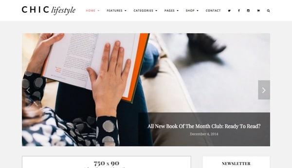 Le thème Chic pour WordPress