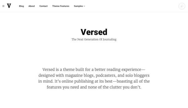 Thème WordPress Versed