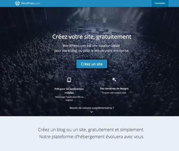 La plateforme WordPress.com