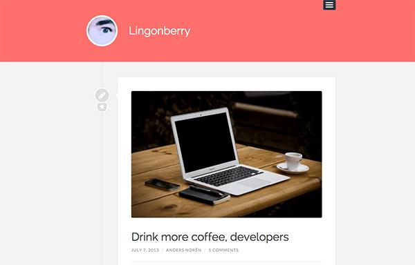 Le thème WordPress Lingonberry