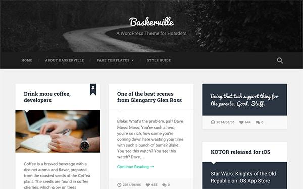 Le thème WordPress Baskerville
