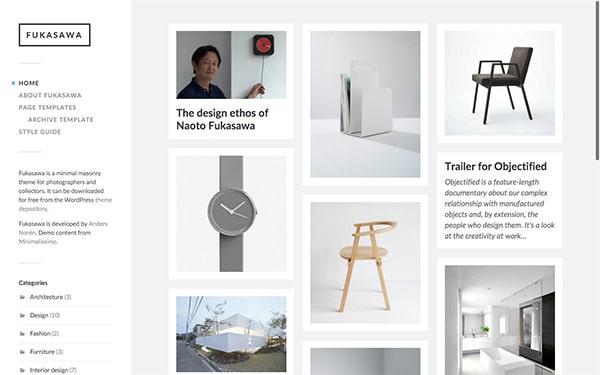 Fukusawa, un template WordPress gratuit