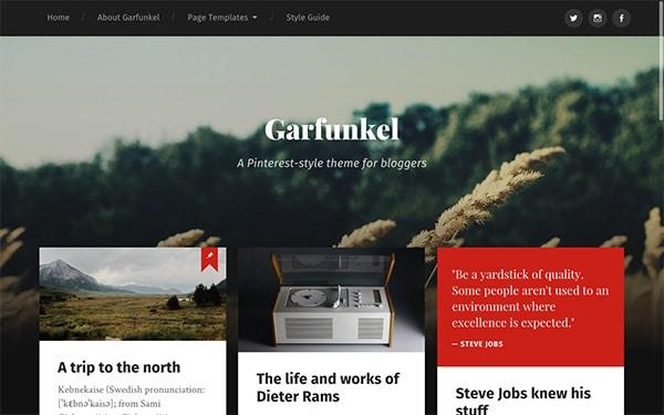 Garfunkel, un thème WordPress gratuit