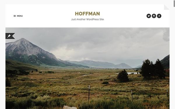 Le thème WordPress gratuit Hoffman