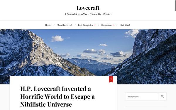 Lovecraft, un thème WP gratuit