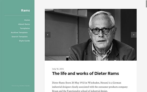 Rams, un thème WP gratuit