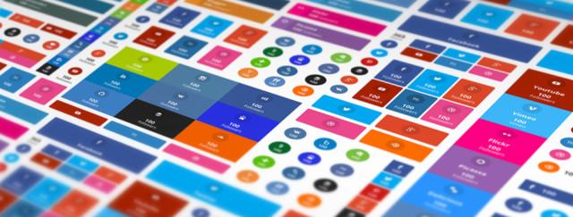 Variété de boutons de réseaux sociaux