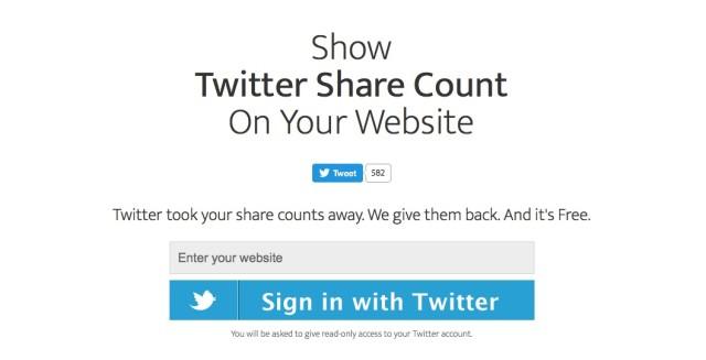 Retrouver les compteurs Twitter